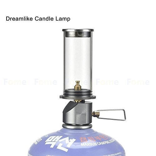 Camping Lamp,FOME SPORTS|OUTDOORS Dreamlike Candle Lamp Camping Lights Mini Gas Lantern Outdoor Lights Equipment Gas Lighting 1.53x1.33x4.05in for Outdoor Hiking Camping