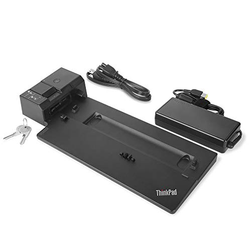 Lenovo ThinkPad Ultra Docking Station US (40AJ0135US) for A285, A485, L580, L480, T490s, T490, T590, T580, T480, T480s, P52s, X390, X280, X1 Carbon 6th Gen