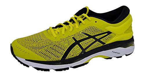 ASICS Men's Gel-Kayano 24 Running-Shoes, Sulphur/Black/White, 9.5 D(M) - Shoes Asics Running Inserts