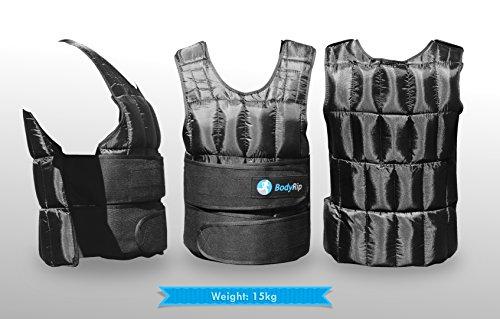 BodyRip Komfort Gepolstert Deluxe 2.0Gewicht Weste 5kg 10kg 15kg 25kg 30kg One Adjustable Size