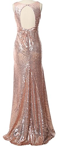 Bridesmaid Formal Long Gown Neck V Evening Gorgeous Grau Dress MACloth Straps Sequin ngzFIwI