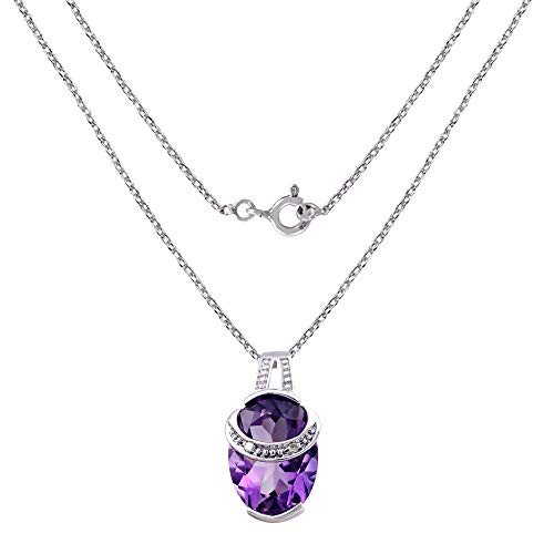 & Diamond Charm Sterling Silver Pendant for Women by Orchid Jewelry ()