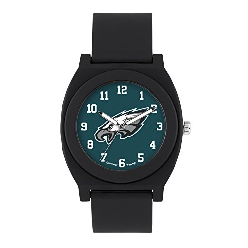 (NFL Philadelphia Eagles Mens Fan Series Wrist Watch, Black, One Size)