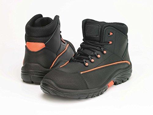 Samurai 1022034009Paar Schuhe Hohe New Borneo S3SRC, schwarz/orange, 44
