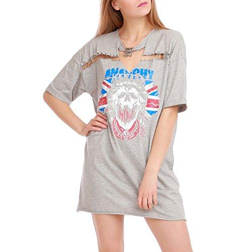 La Modeuse - Vestido - para mujer gris