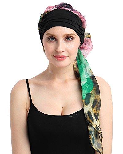 Chemo Turbans Print Head Scarves DIY Easy Tie Cancer Headwear Bandana-Best Medical - Best Wear It Who