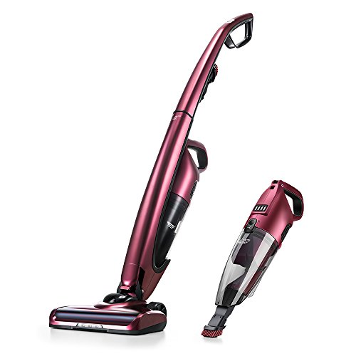 PUPPYOO Cordless Stick Vacuum Cleaner 2 in 1 Rechargeable Portable Handheld Vac WP511