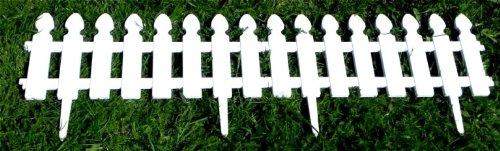 2 m color blanco Verja para jard/ín WOOLUX GARDEN