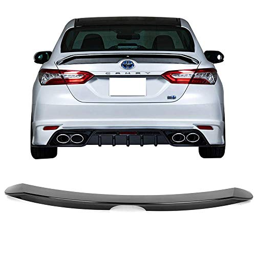 Fits 18-19 Toyota Camry PB Style Trunk Spoiler Gloss Black ABS By IKON ()