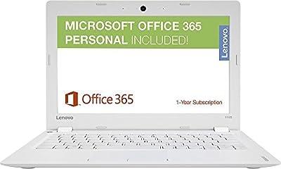 "Lenovo Ideapad High Performance 11.6"" HD PC, 1-Year Office 365 ($69.99 Value), Intel Celeron Dual-Core Processor, 2GB RAM, 32G eMMC Storage, Webcam, Wi-Fi, Bluetooth, HDMI, Windows 10"