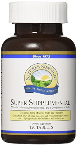 NATURE'S SUNSHINE Super Supplemental Tablets, 120 Count