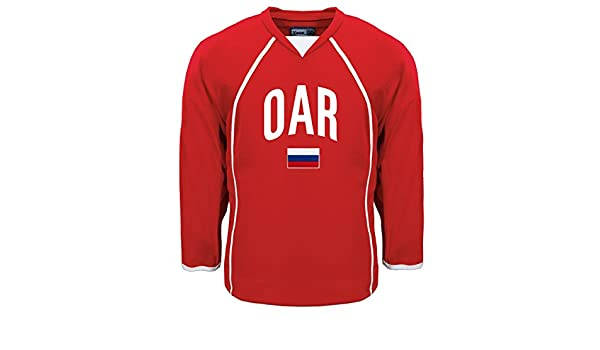 a490712e3 Amazon.com : Olympic Athlete from Russia MyCountry Fan Hockey Jersey :  Sports & Outdoors