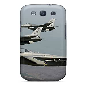 Snap-on Case Designed For Galaxy S3- F 15 Eagle Joined F 16 Fighting Falcons