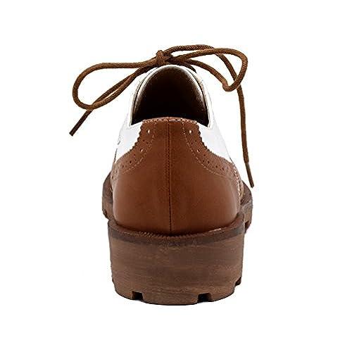 Plat Chaussures Partie Ronde Femme Maxmuxun Oxford Mode Confortable ZntP4aTxwq