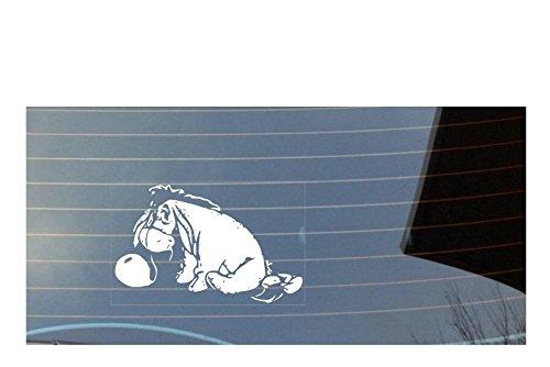 eeyore with ballon car window sticker - White Shaw Print