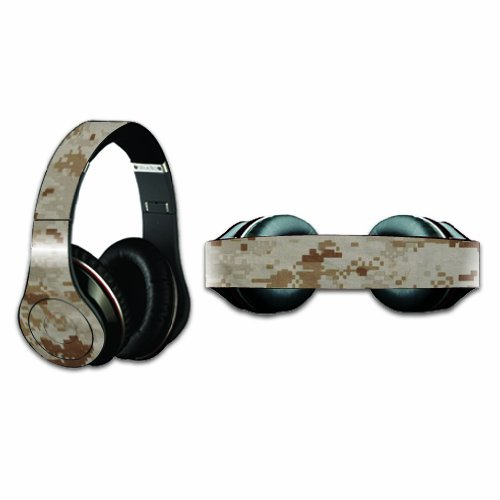 MightySkins Protective Vinyl Skin Decal Cover for Dr. Dre Beats Studio Headphones wrap sticker skins Desert Camo ()