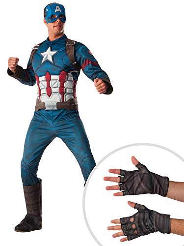 Marvel Captain America Costume Kit Deluxe Adult XL Muscle Chest with Gloves for $<!--$63.99-->