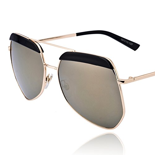 Polygon black Grey Ant sunglasses/Frog mirror/Large frame sunglasses/Polarized - Sunglasses Ant Grey