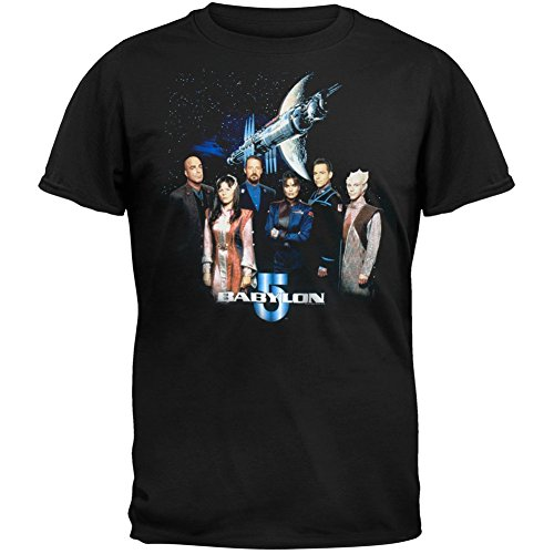 Babylon 5 - Group Photo Adult T-Shirt - X-Large