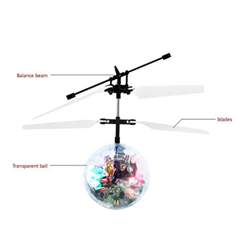 Aircraft,IEason Clearance Sale! RC Ball Infrared Induction Mini Aircraft Flashing Light Remote Toys For Kids