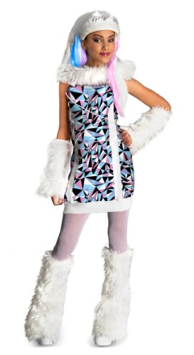 [Monster High Abbey Bominable Costume - Medium] (Monster High Snow Girl Costume)