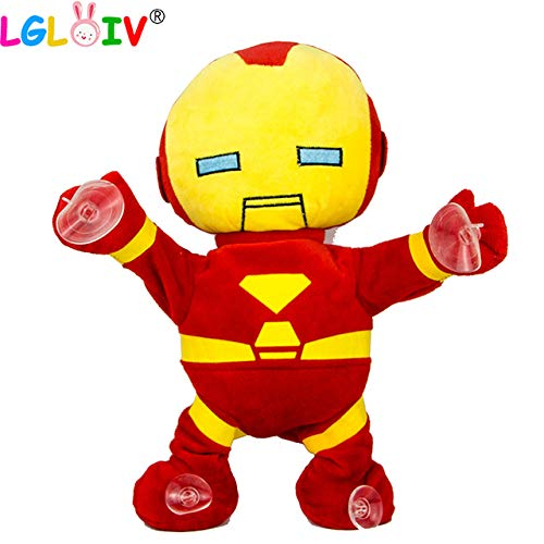 VIDANL Lgloiv Man Car Glass Pendant Plush Toy Will Dance Shaking Music Voice Control Electric Anime Weigong Must Have Tools Friendship Gifts Favourite Movie Superhero Cupcake Toppers UNbox Game by VIDANL
