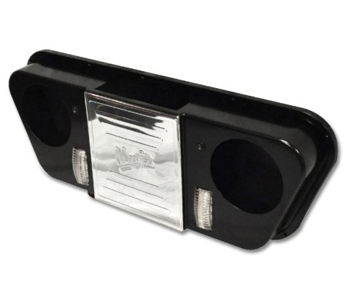Golf Cart Universal Overhead Stereo Console - Black