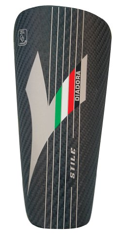 Carbon Carbon Fiber Shin Guard (Diadora Unisex Stile Shinguards,Black,M)
