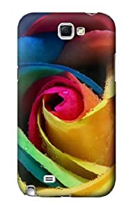 S0537 Rose Color Case Cover for Samsung Galaxy Note 2