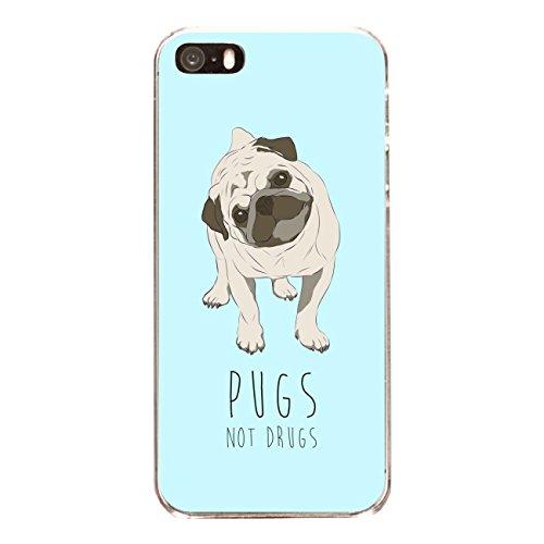 "Disagu SF-sdi-4558_1165#zub_cc6486 Design Schutzhülle für Apple iPhone SE - Motiv ""Pugs not Drugs"""