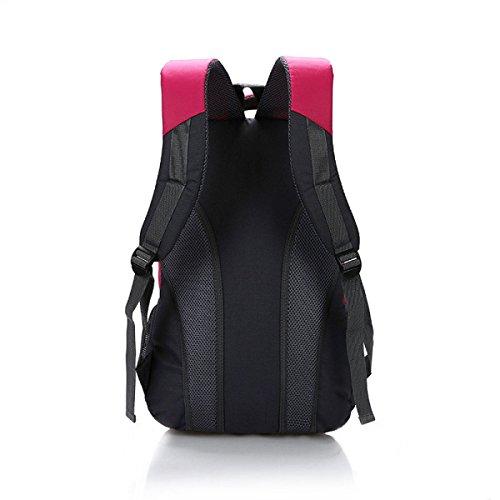 Gran Mochila Bandolera Recorrido De La Capacidad Recorrido Al Aire Libre Bandolera Estudiante Bolsa Casual,Pink SapphireBlue