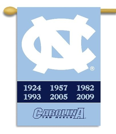 NCAA North Carolina Tar Heels 2-Sided 28-by-40 inch House Banner With Pole - North Carolina Premium Outlets