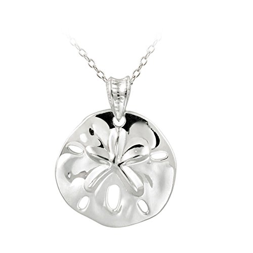 Hoops & Loops Sterling Silver Beach Sand Dollar Necklace (Sterling ()