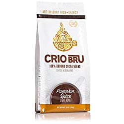 Crio Bru Pumpkin Spice Light Roast 10oz Bag | Organic Healthy Brewed Cacao Drink | Great Substitute to Herbal Tea and…