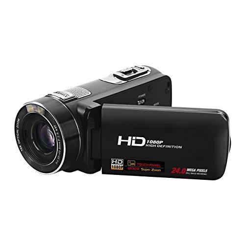 Digital Video Camcorder,Powpro PP-HDV-Z80 24MP 1080P DV with 3.0 Inch TFT LCD 360 Degree Rotation Screen Mini DV Camcorder (Dv Players Mini)