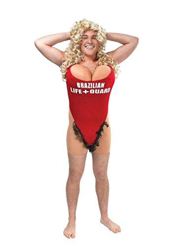 Bristol Novelty AC797 Lifeguard/Hairy Mary Costume, Mens, Medium