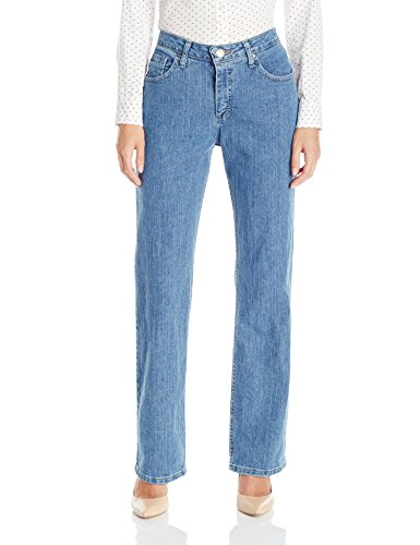 Riders by Lee Indigo Women's Relaxed Fit Straight Leg Jean,Light,12