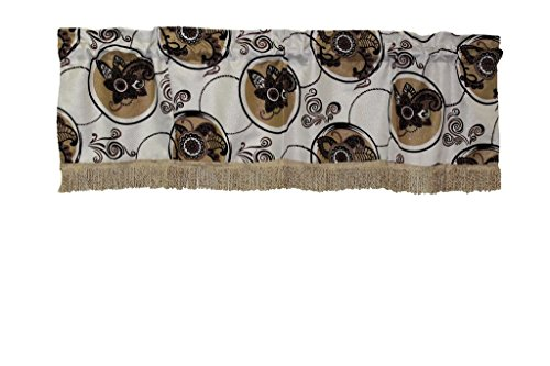 Shaped Trim Oval Floral - Violet Linen Tivoli Window-Treatment-valances, 60