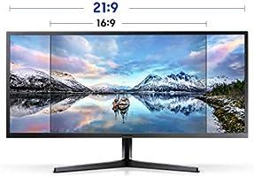 Samsung SJ55W Monitor de juegos ultra ancho de 34 pulgadas (LS34J550WQNXZA) – 75 Hz Refresh, monitor de computadora WQHD, resolución 3440 x 1440p, respuesta de 4 ms, FreeSync, pantalla dividida, HDMI: Amazon.es: Electrónica