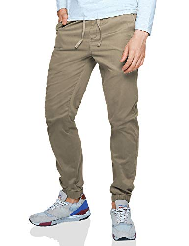 Match Men's Loose Fit Chino Washed Jogger Pant (38, 6058 British Khaki) ()