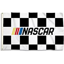 NASCAR N/A Unisex 3-By-5 Foot Flag with Grommetsnascar 3-By-5 Foot Flag with Grommets, Black/White, One Size