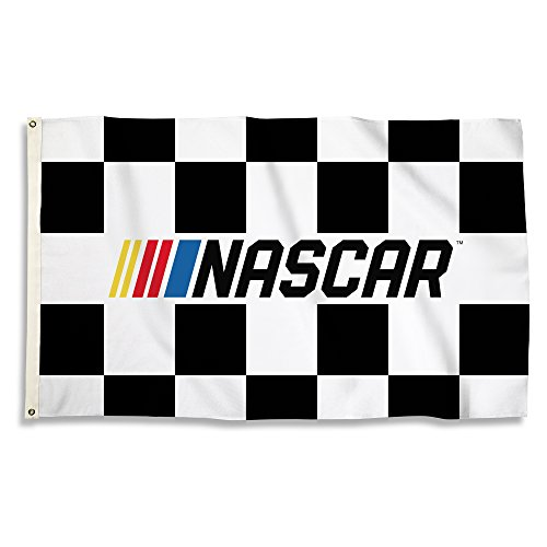 Nascar N A Unisex 3 By 5 Foot Flag With Grommetsnascar 3 By 5 Foot Flag With Grommets  Black White  One Size