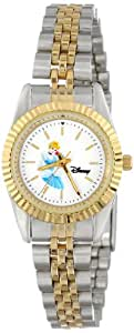 Disney Women's D124S776 Cinderella Two-Tone Bracelet Watch