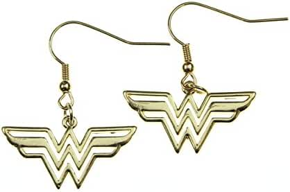 Wonder Woman 316l Surgical Stainless Steel Gold Plated Earrings