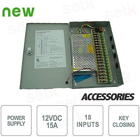 Setik - Caja de Fuente de alimentación de 12V 15A: Amazon.es: Electrónica