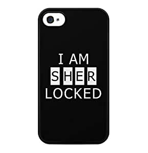 Sherlock Holmes I Am Sher Locked Hard Plastic Phone Case Cover Shell For iPhone 4 & iPhone 4s