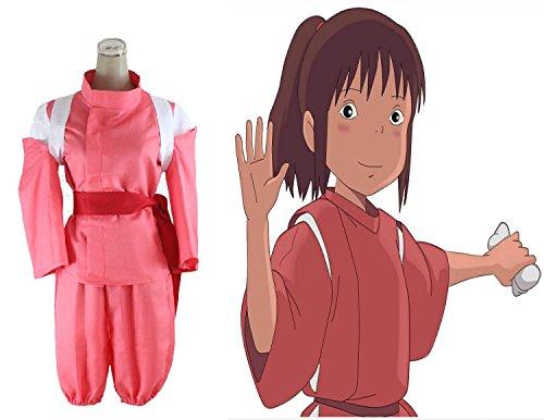 [Smile Style Spirited Away Cosplay Ogino Chihiro Costume kimono Suit] (Chihiro Cosplay Costume)