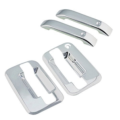 SEGADEN Chrome Plated Door Handle Cover fit for 2004-2014 FORD F-150 F150 2005-2008 LINCOLN Mark LT ( 2 Doors No Key Pad No Passenger Keyhole ) XG7700