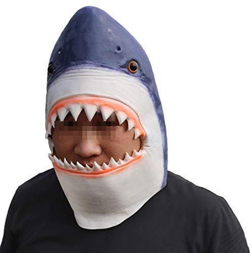 Shark Head Costume (ifkoo Shark Mask Novelty Halloween Costume Party Latex Animal Head)