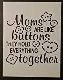 OutletBestSelling Reusable Sturdy Mothers Day Moms Buttons Hold Together 8.5'' x 11'' Stencil